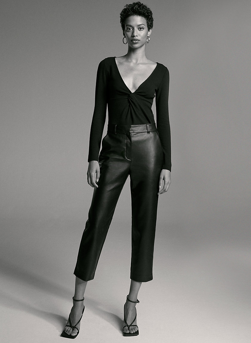 HASEK PANT - Straight faux leather pants