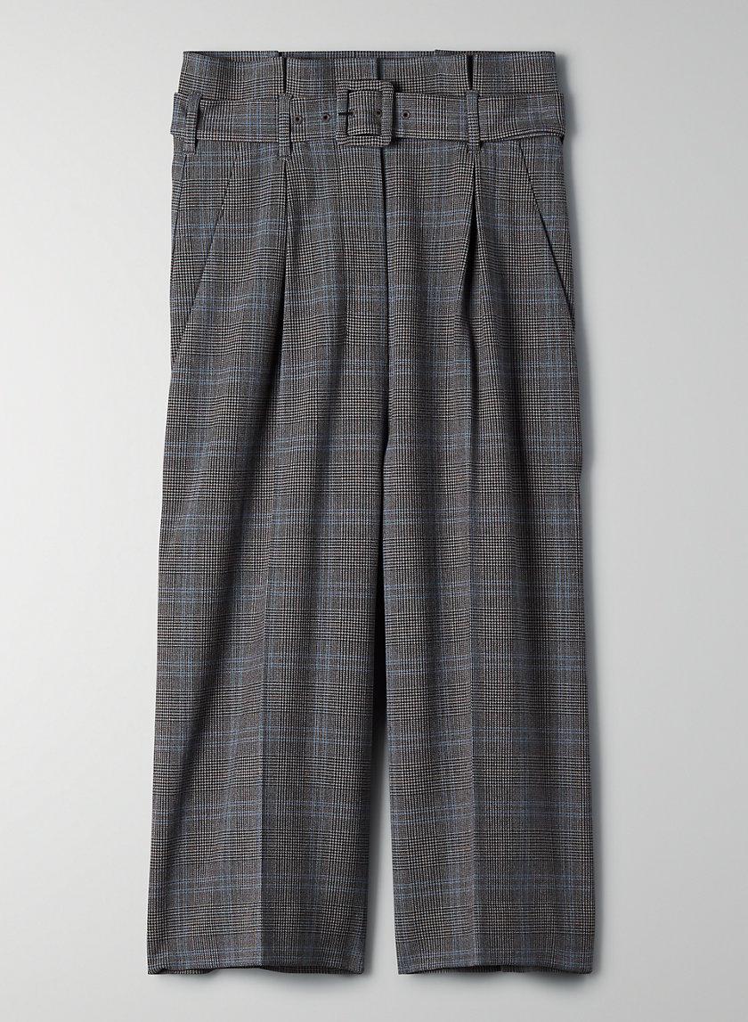 HESTON PANT - Wide-leg plaid culottes