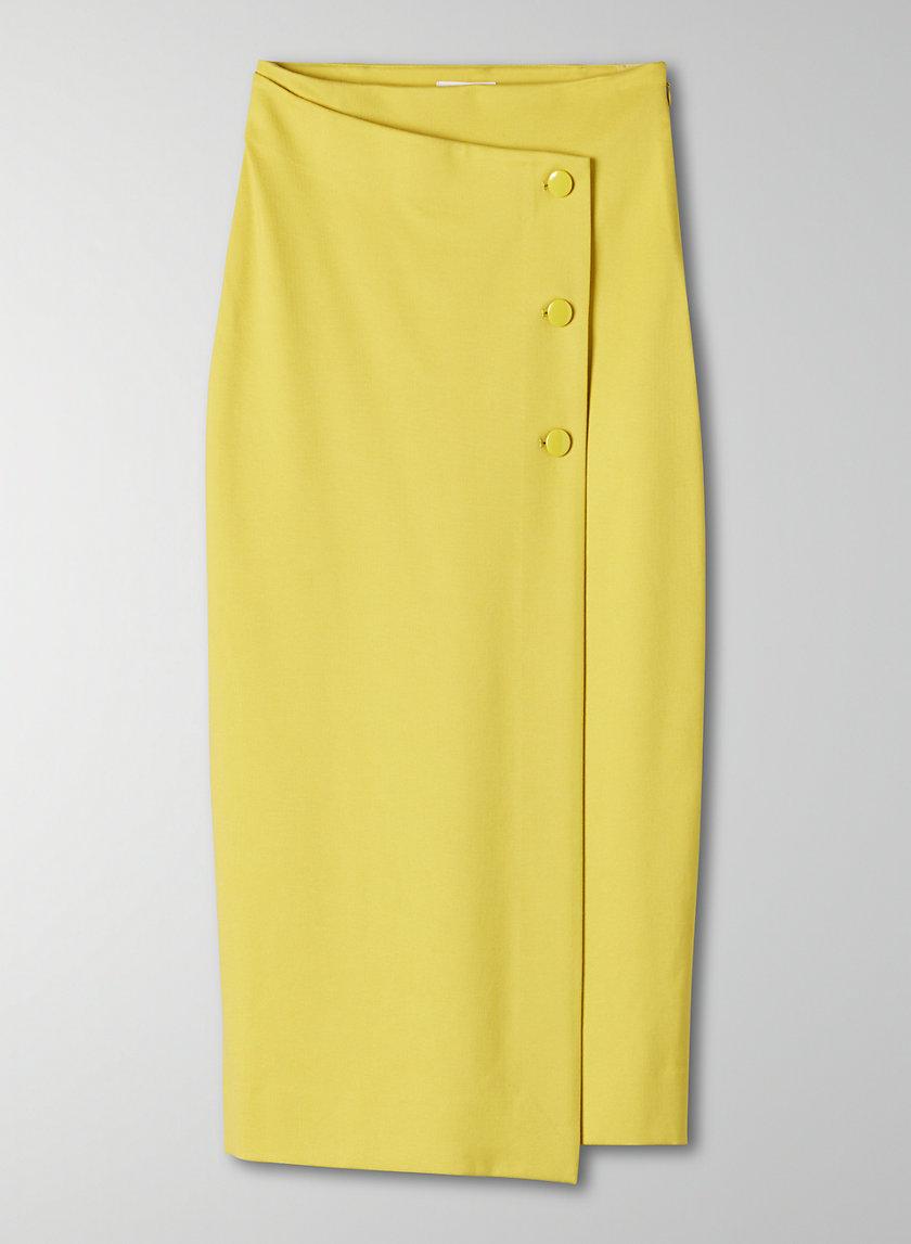 BUTTONED-UP SKIRT - Wrap midi skirt