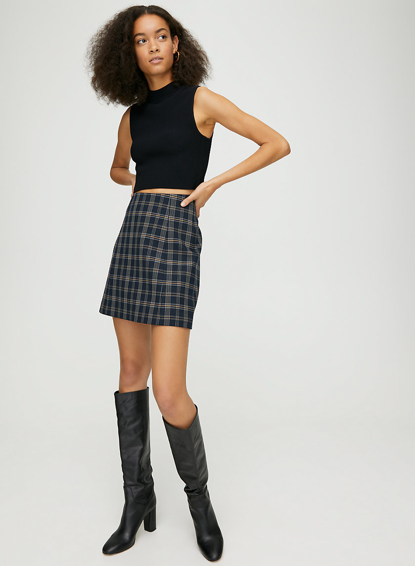 MODERN CHECK MINI SKIRT - Plaid, A-line mini skirt