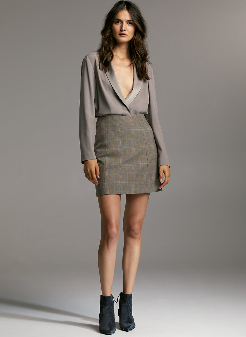 MODERN CHECK MINI SKIRT - Plaid, A-line mini skirt