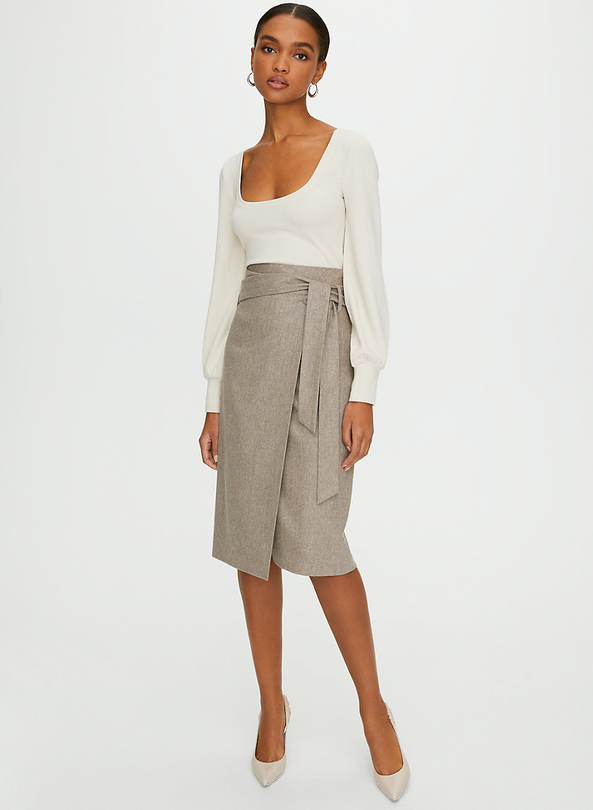 KARL WOOL CASHMERE SKIRT - Wool skirt