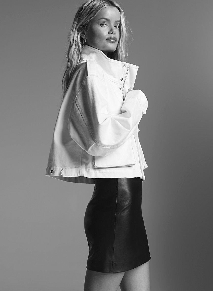 JOPLIN LEATHER MINI - Leather, A-line mini skirt