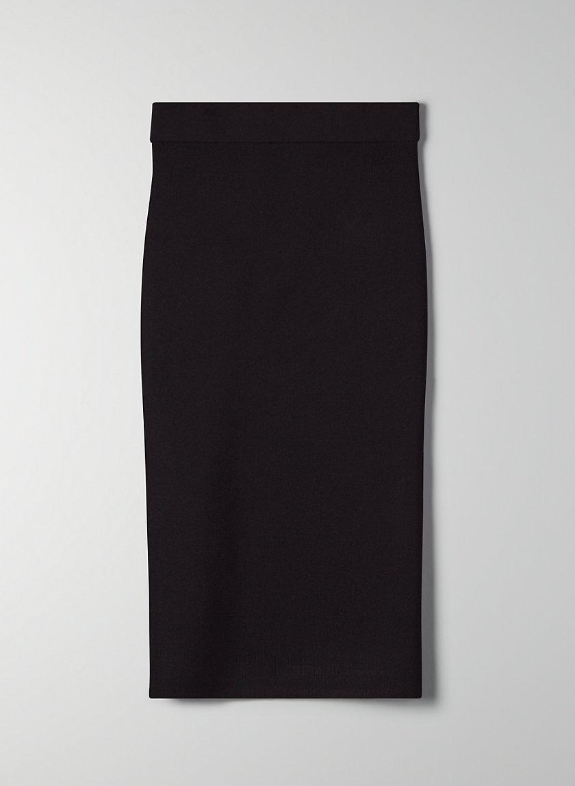 SCULPT KNIT TUBE SKIRT - Sculpting knit pencil skirt