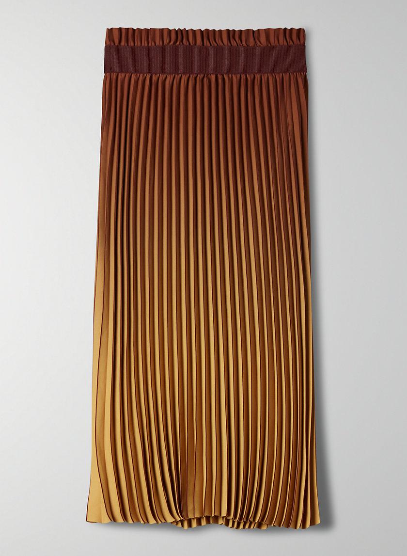 WESTIN SKIRT - Dip-dyed, pleated midi skirt
