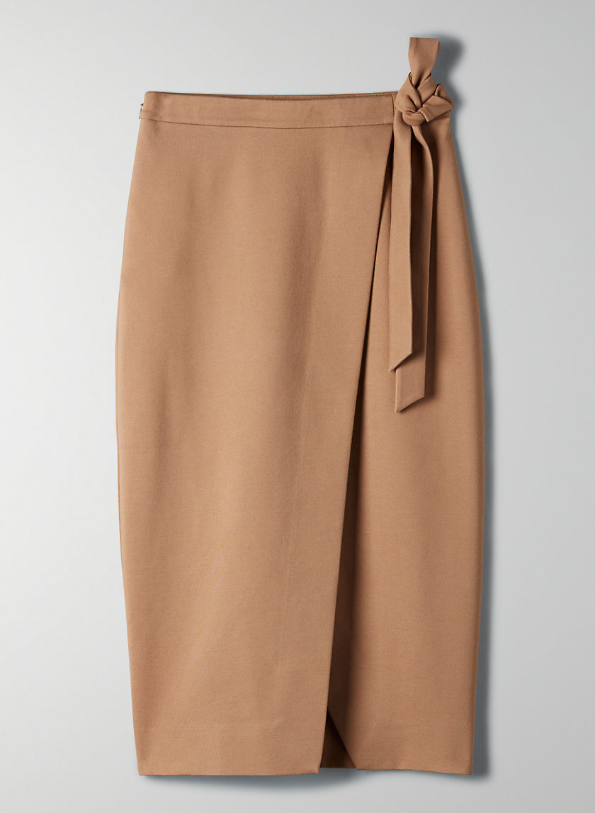 PELLI SKIRT - Stretchy wrap skirt