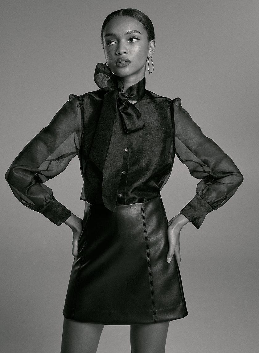 MODERN MINI SKIRT - Faux-leather skirt