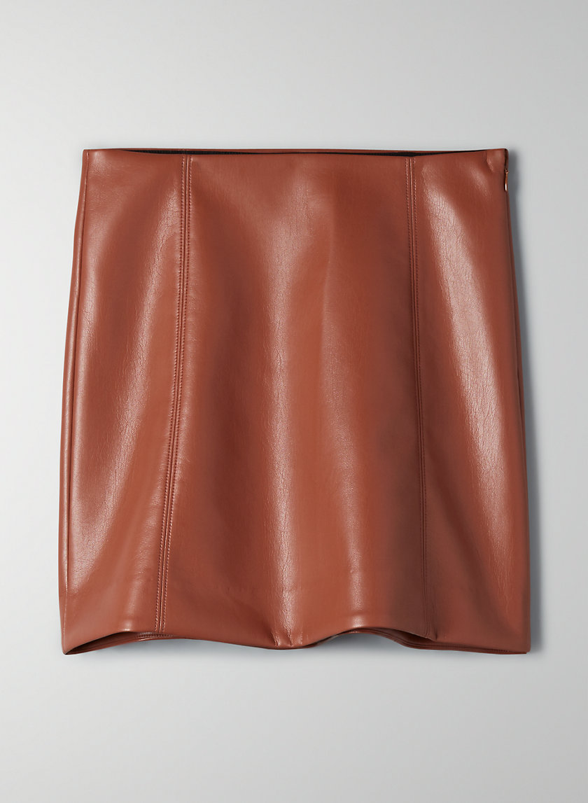 MODERN MINI SKIRT - Faux-leather skirt