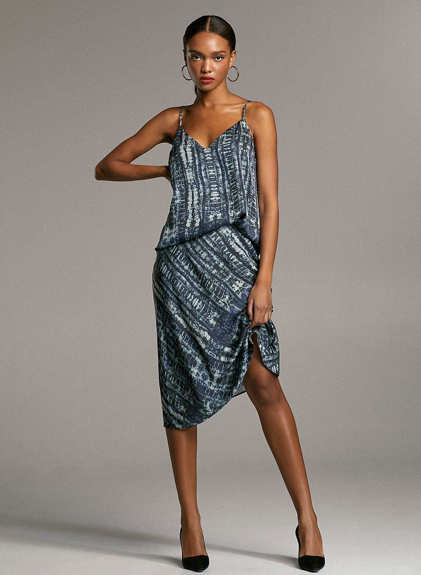 SLIP SKIRT - Tie-dye midi skirt