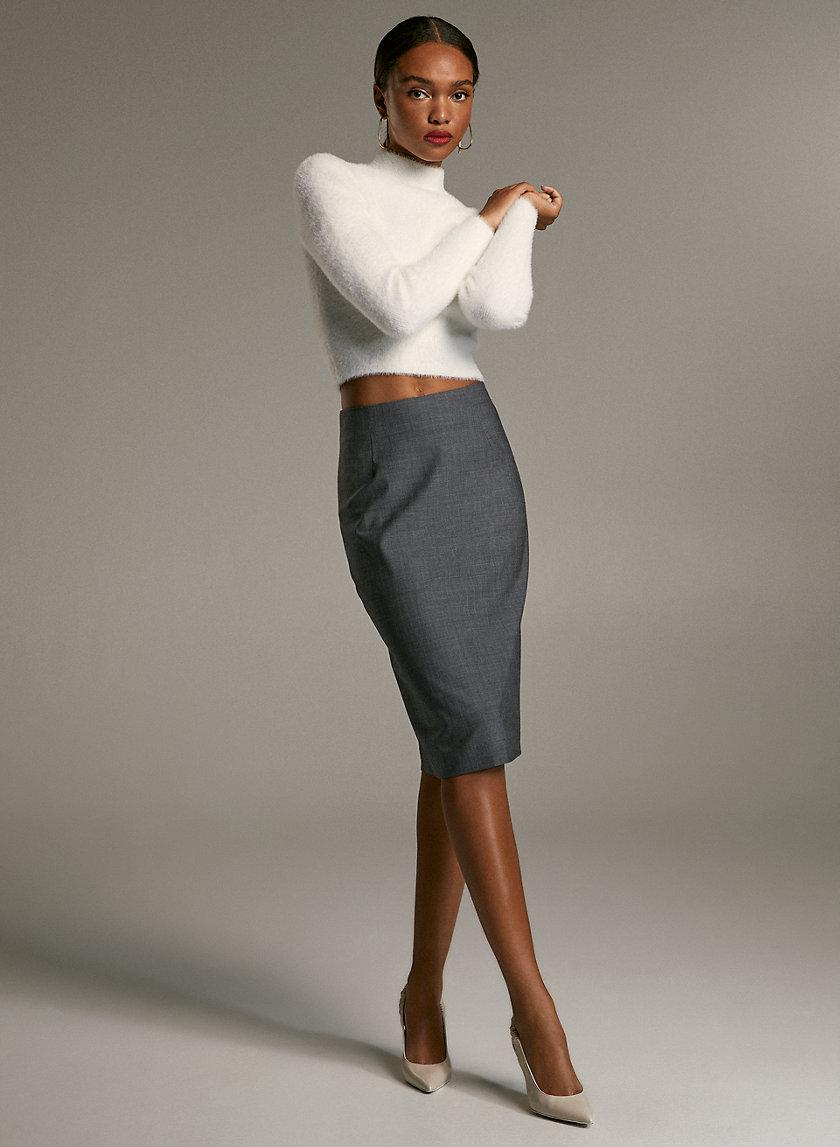 GABE SKIRT - Virgin-wool pencil skirt
