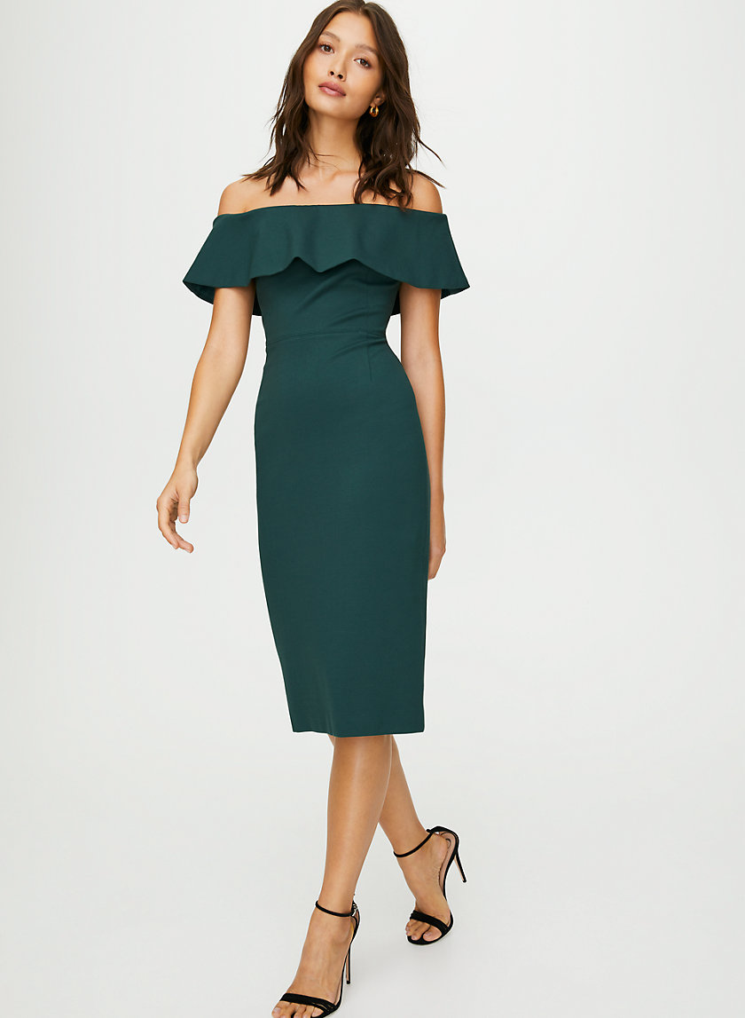 RUSLAN DRESS - Off-the-shoulder midi dress