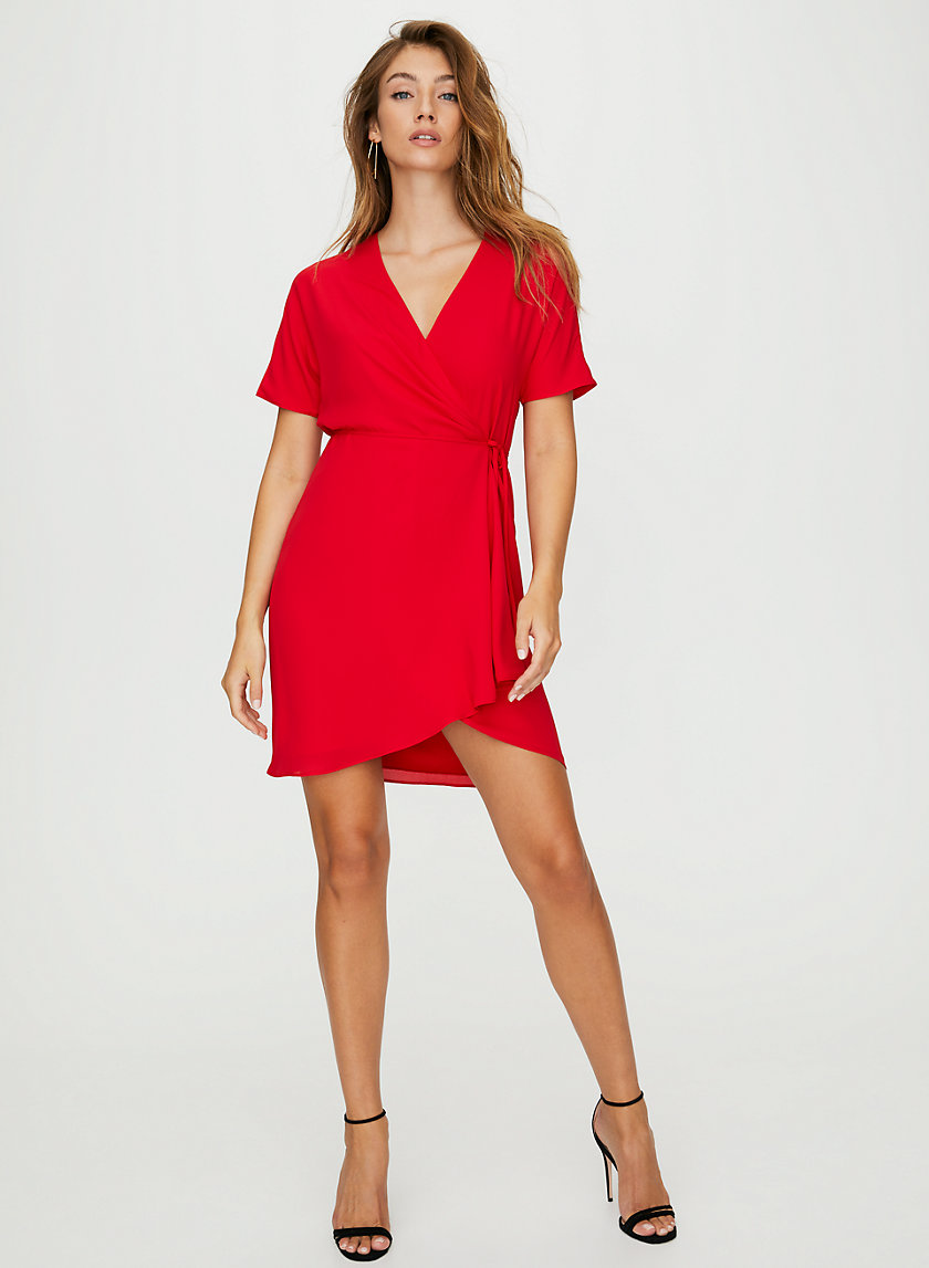 WALLACE DRESS - Short-sleeve wrap dress