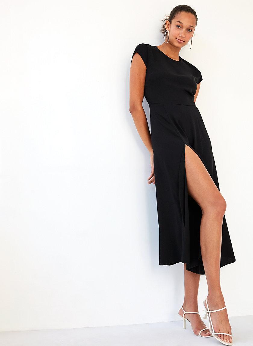 HAMPTONS DRESS - Midi slit dress