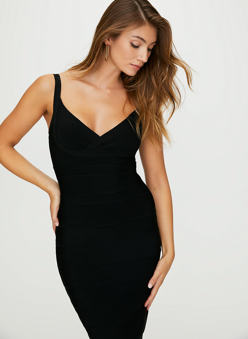 MASON BANDAGE DRESS - Shiny bodycon dress