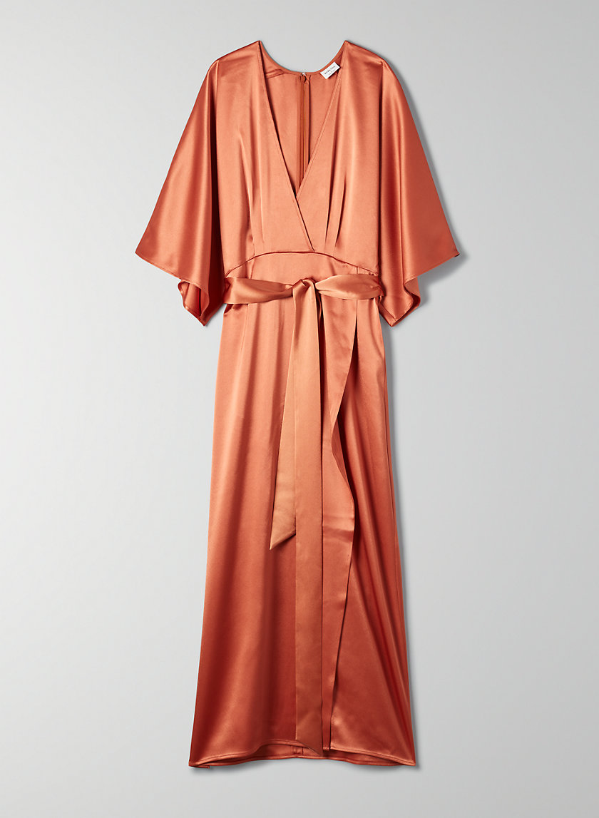 STANLEY DRESS - Satin kimono-style dress
