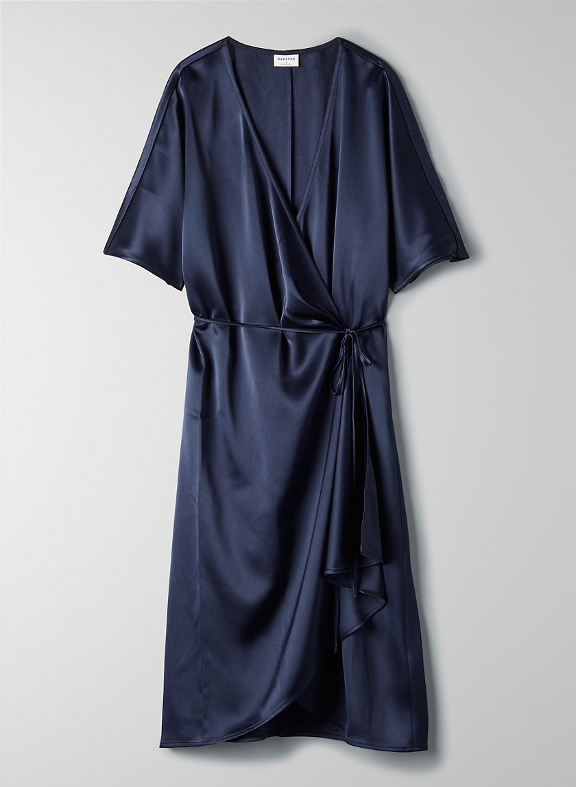 WALLACE DRESS - Short-sleeve wrap dress