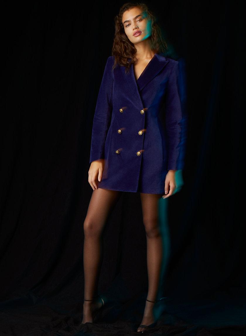 PELLI VELVET BLAZER DRESS - Velvet blazer mini dress