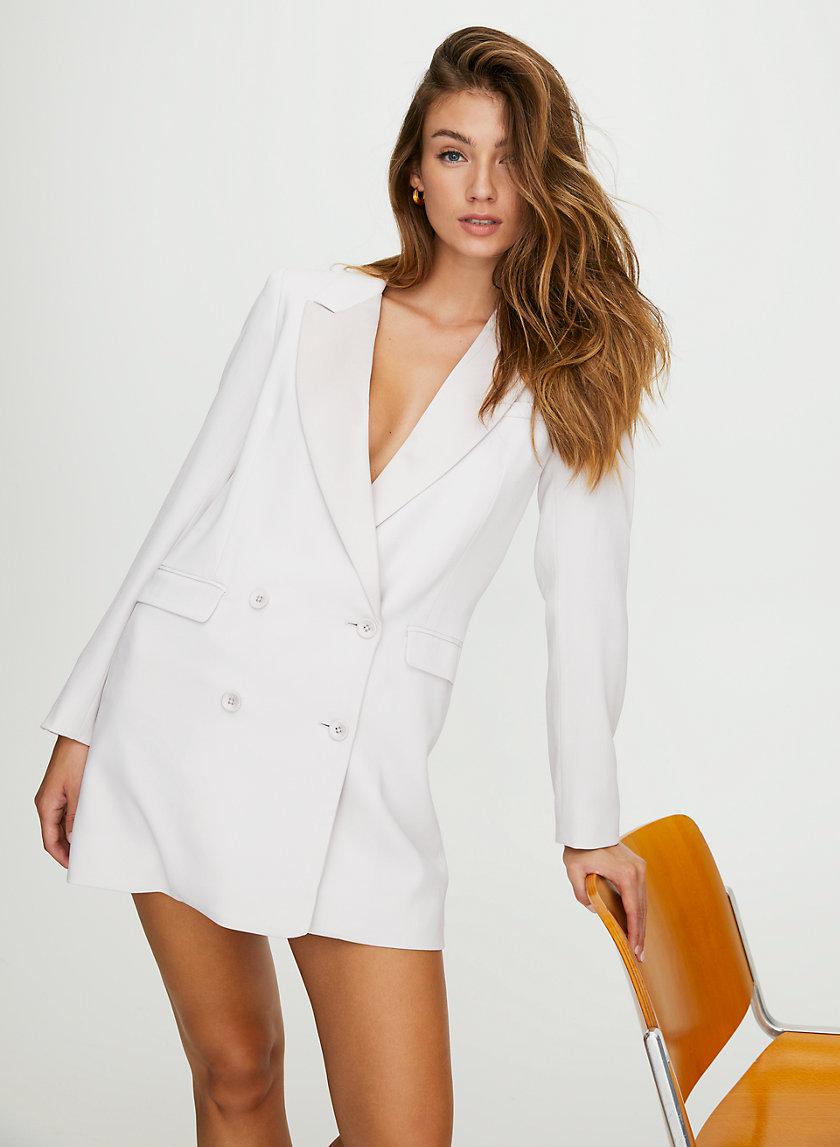 BLAZER DRESS - Tuxedo blazer dress