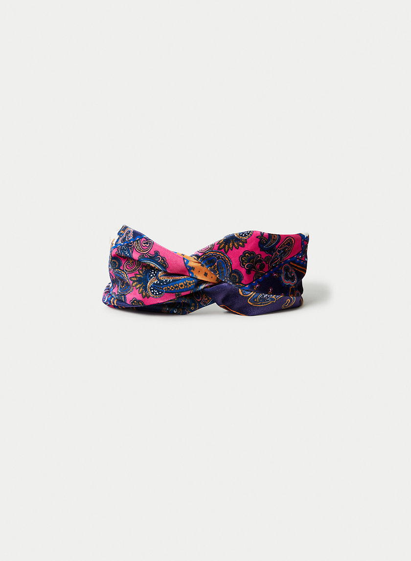 KIKI HEADBAND - Velvet knotted headband
