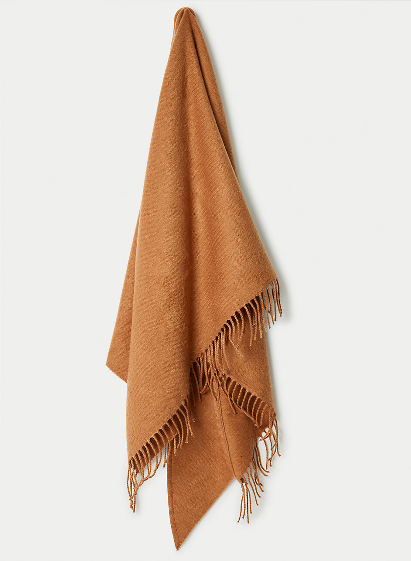 LACEY TRIANGLE SCARF - Triangle fringe scarf
