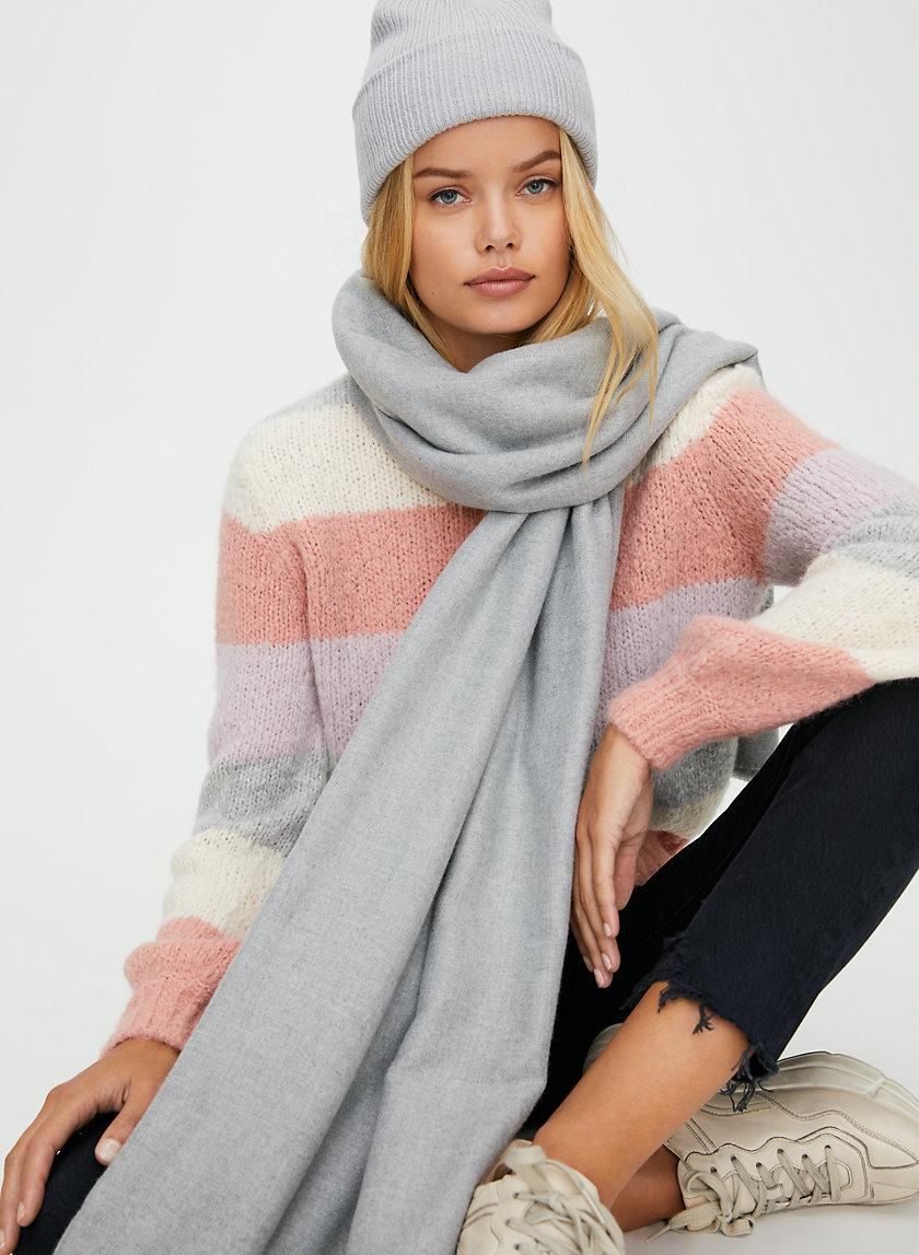 CHLOE SCARF - Long fringe blanket scarf
