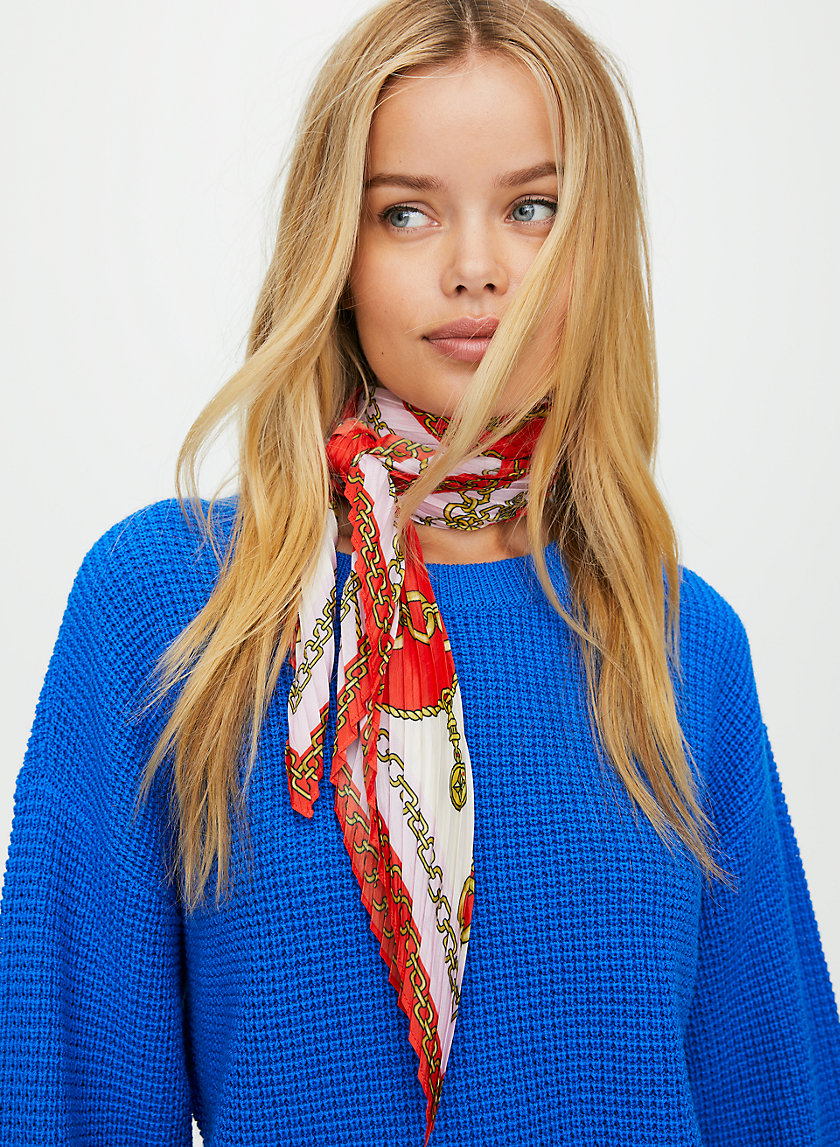 KAY SCARF - Classic print scarf