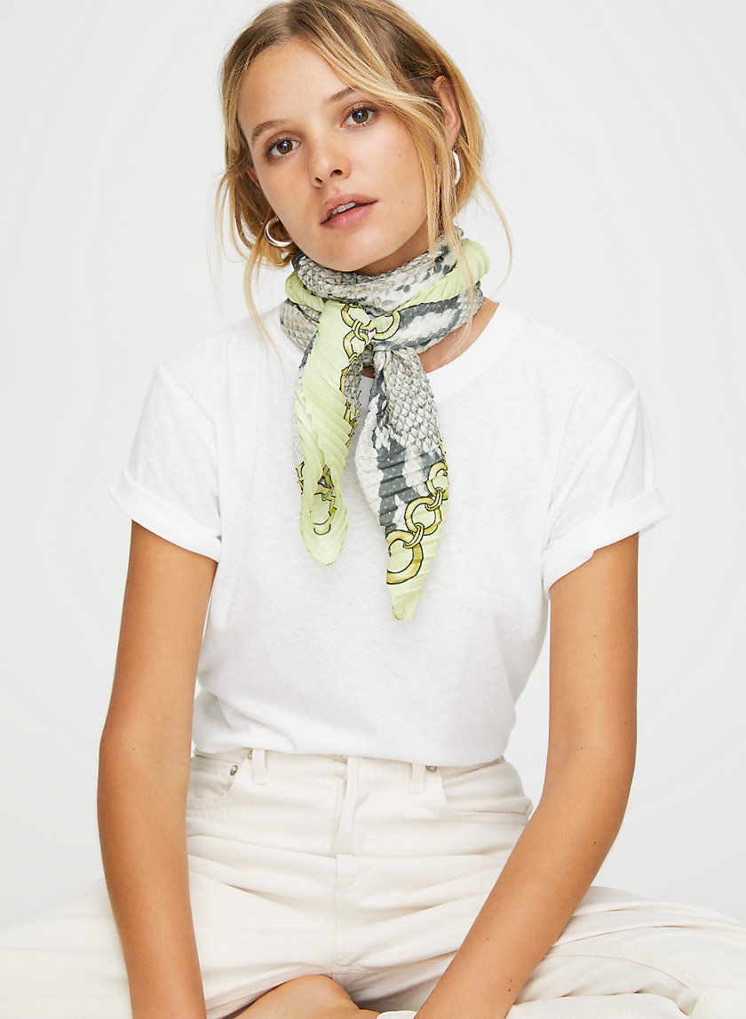 KAY SCARF - Snake-print scarf