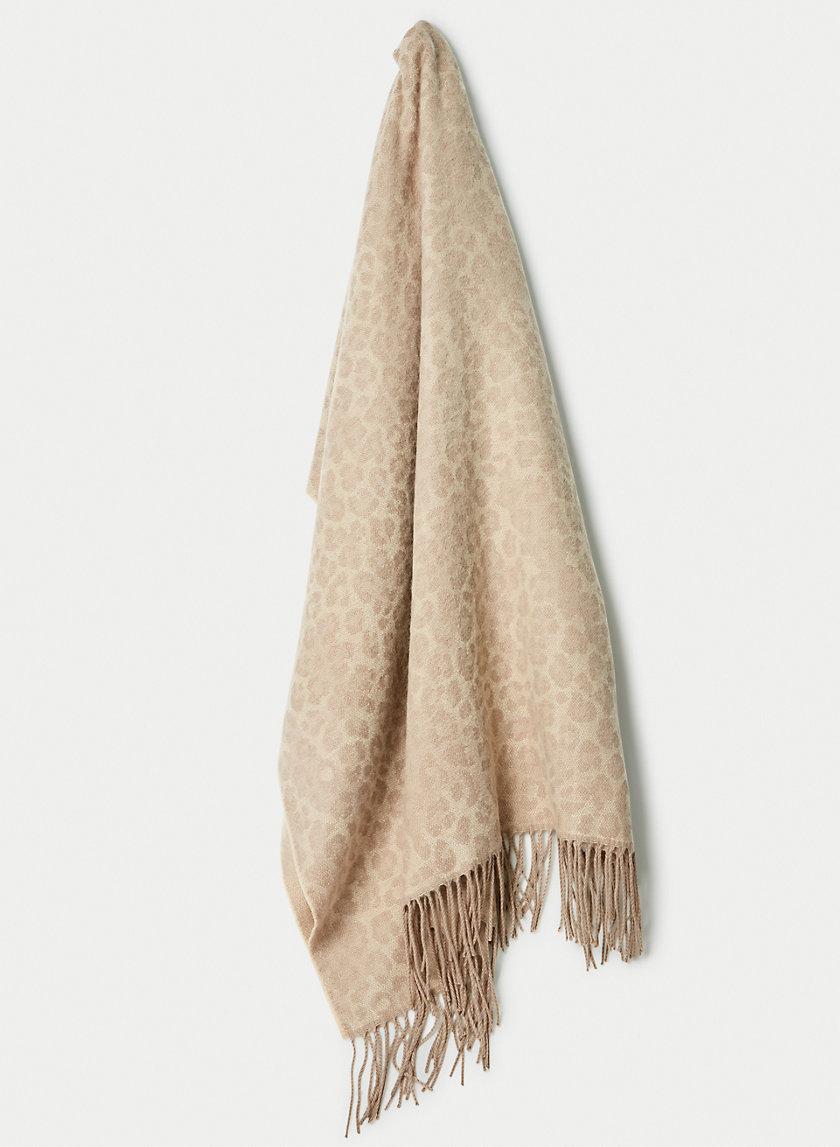 LAUREN FRINGE SCARF - Leopard print scarf