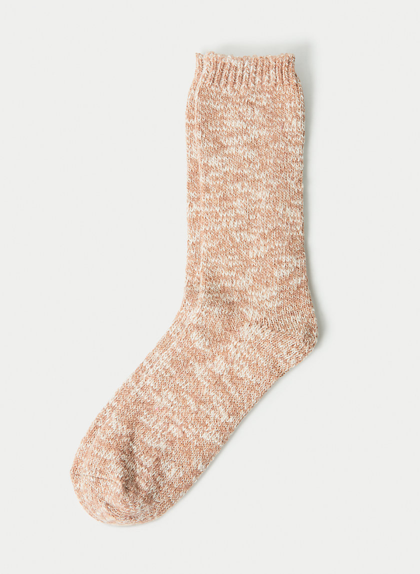 COZY BOOT SOCK - Cotton and wool blend socks