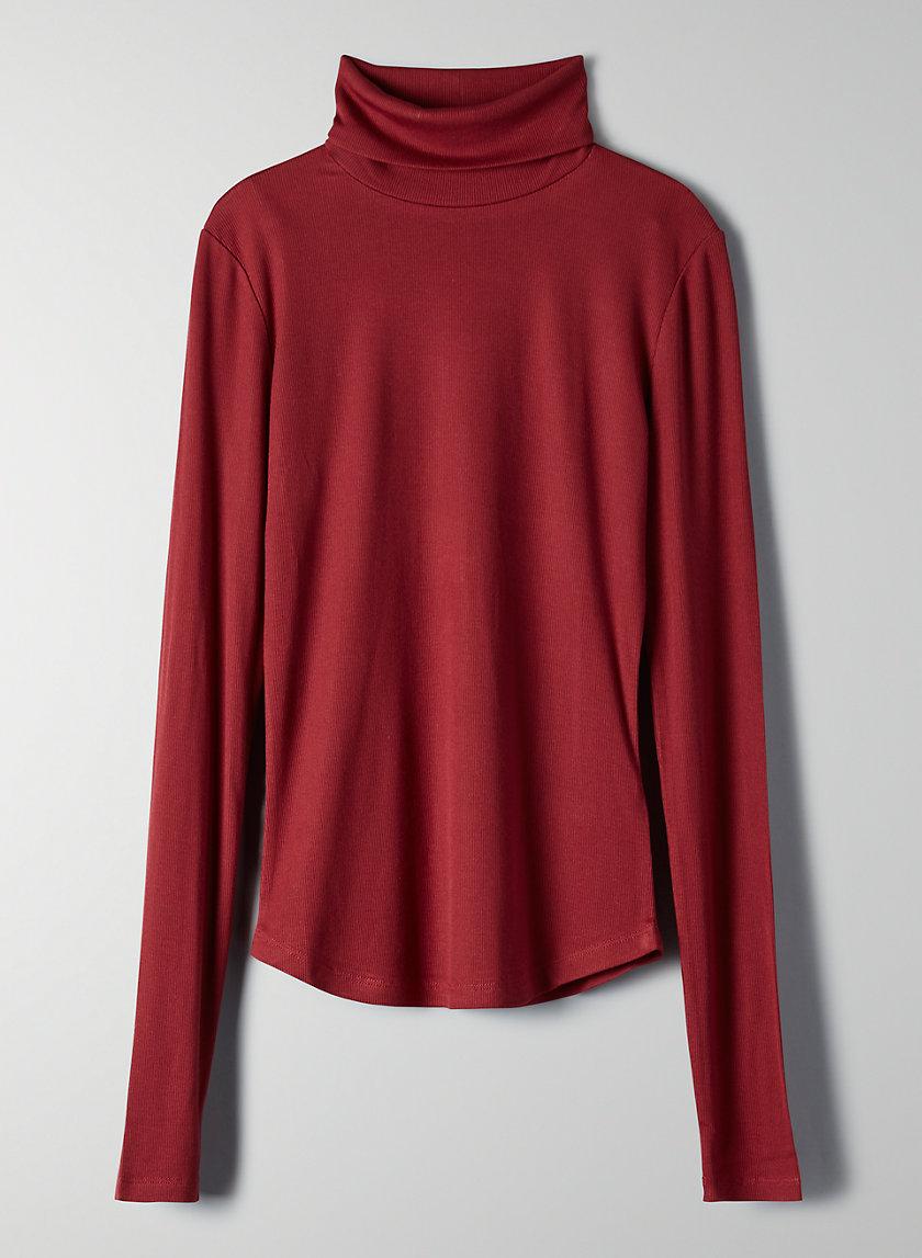 HACKNEY T-SHIRT - Ribbed turtleneck shirt