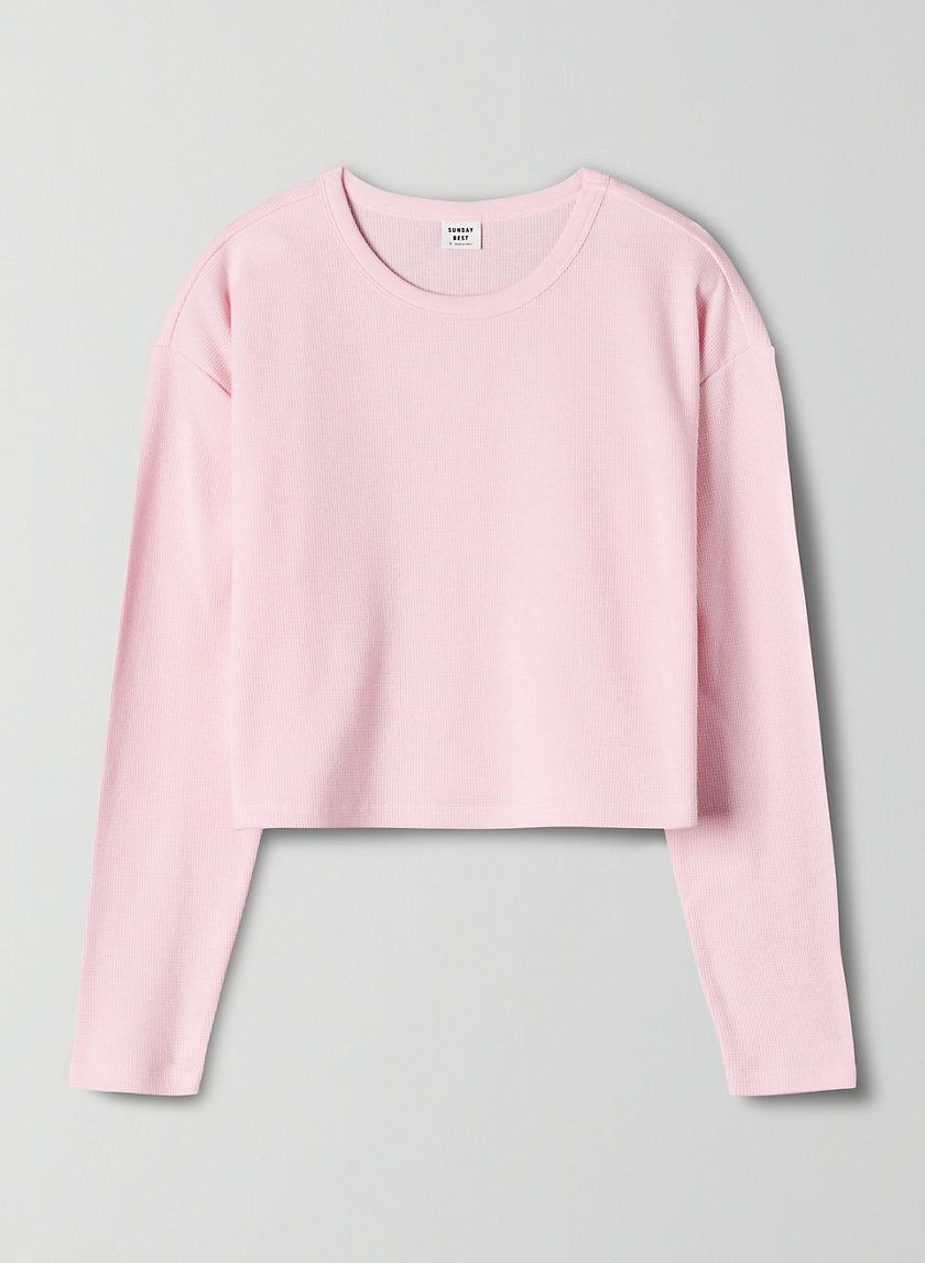 HAVISHAM T-SHIRT - Cropped, waffle-knit shirt