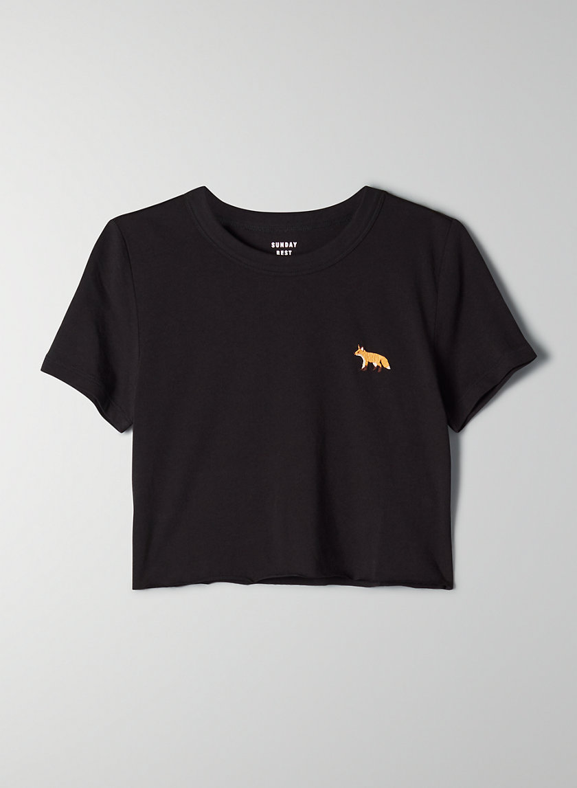 CANDY CROPPED T-SHIRT - Cropped fox t-shirt