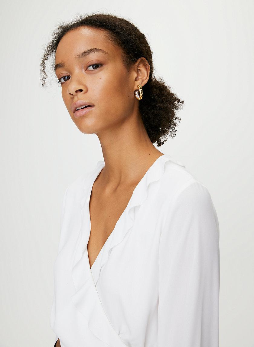 GIGI BLOUSE - Ruffle wrap blouse