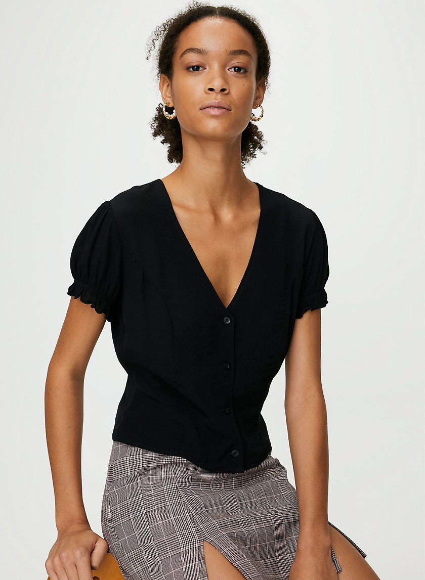 TARYN BLOUSE - Puff-sleeve, prairie blouse