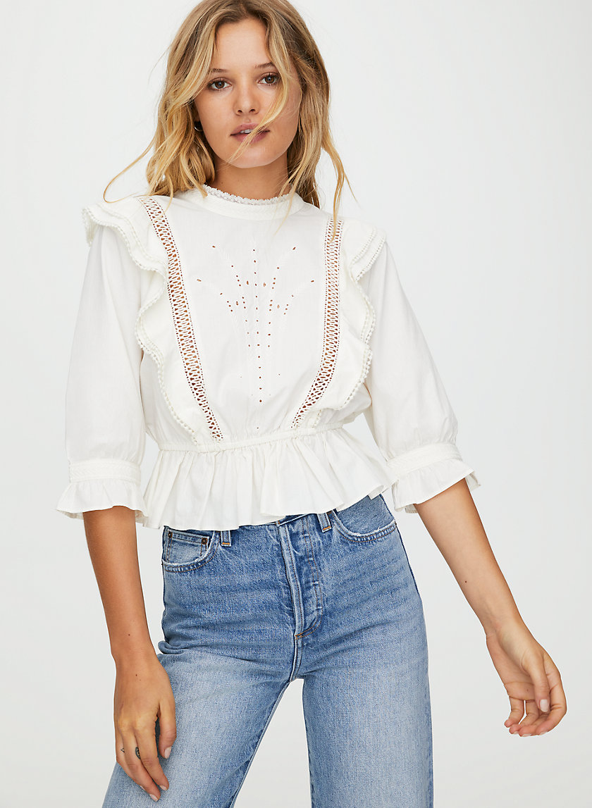 BRITTA BLOUSE - Embroidered boho blouse