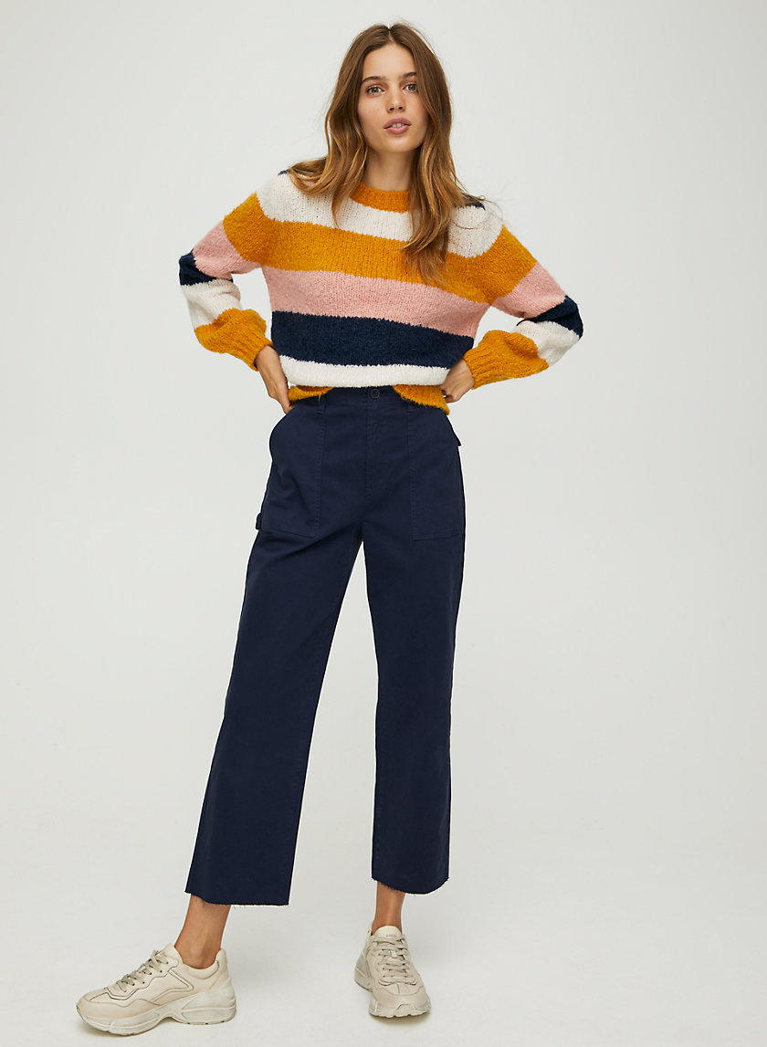 LENNIE SWEATER - Striped crew-neck sweater