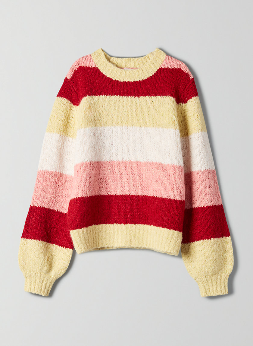 LENNIE SWEATER - Striped crew-neck sweater