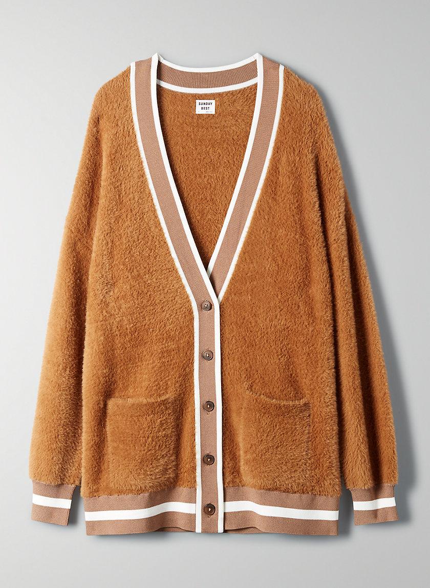 KITTEN CARDIGAN - Oversized fuzzy cardigan
