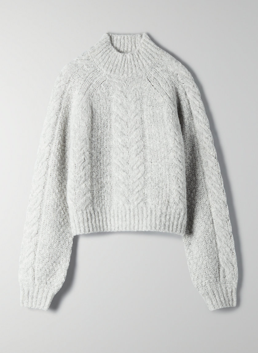 MELLY SWEATER - Cable-knit fisherman sweater