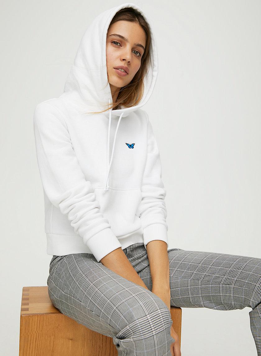 MONTOYA HOODIE - Cropped, pullover butterfly hoodie