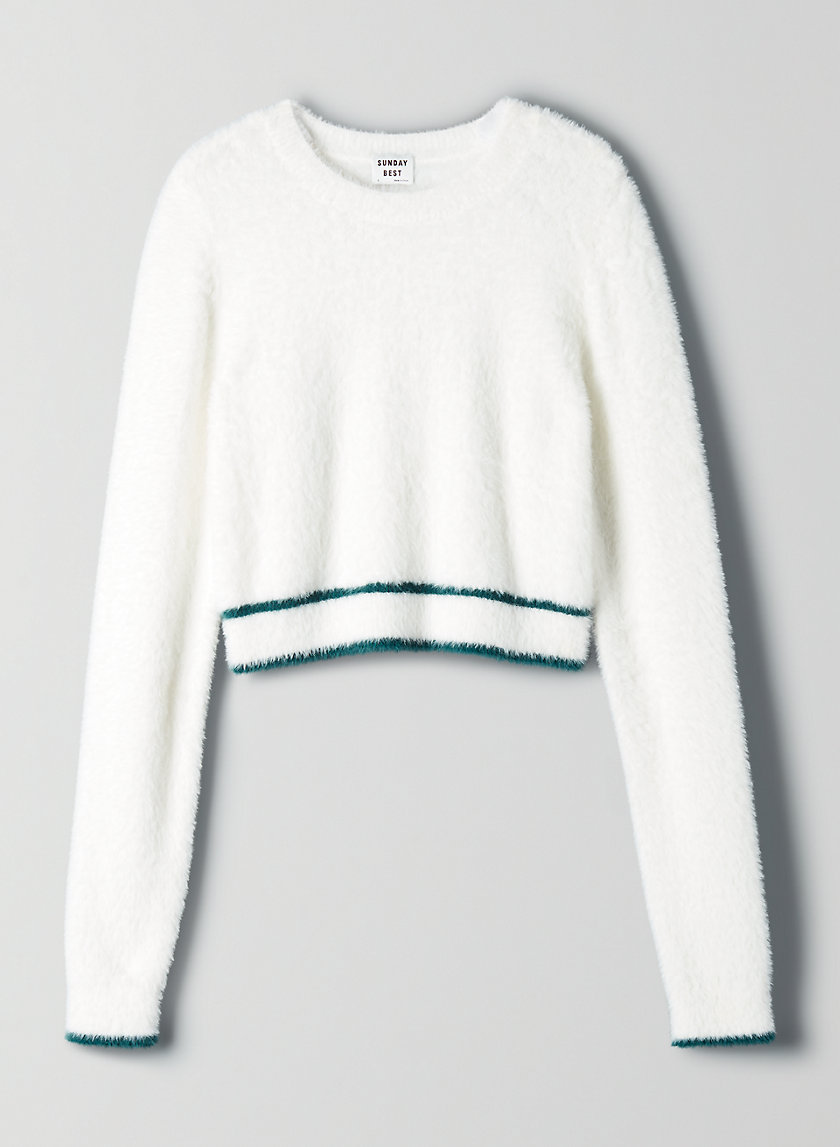 TARO SWEATER - Cropped, fuzzy sweater