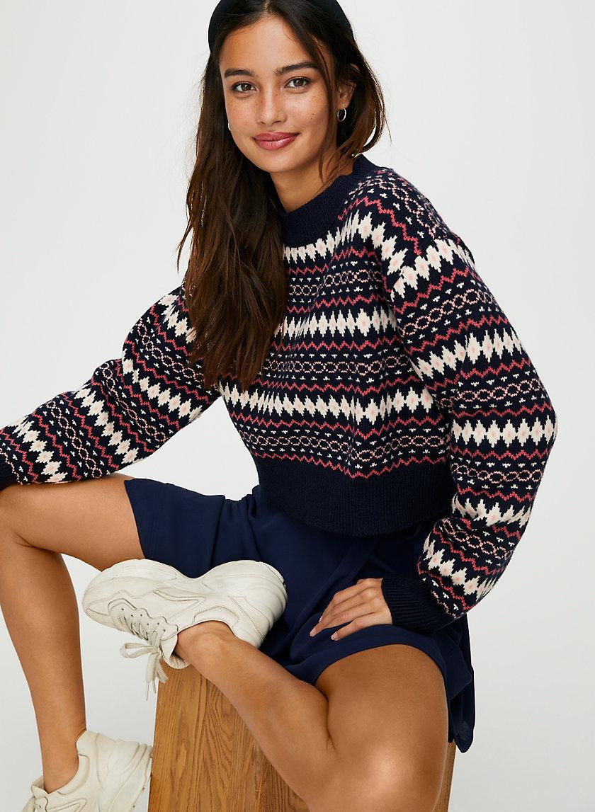 LAMORA SWEATER - Fair Isle crew-neck sweater