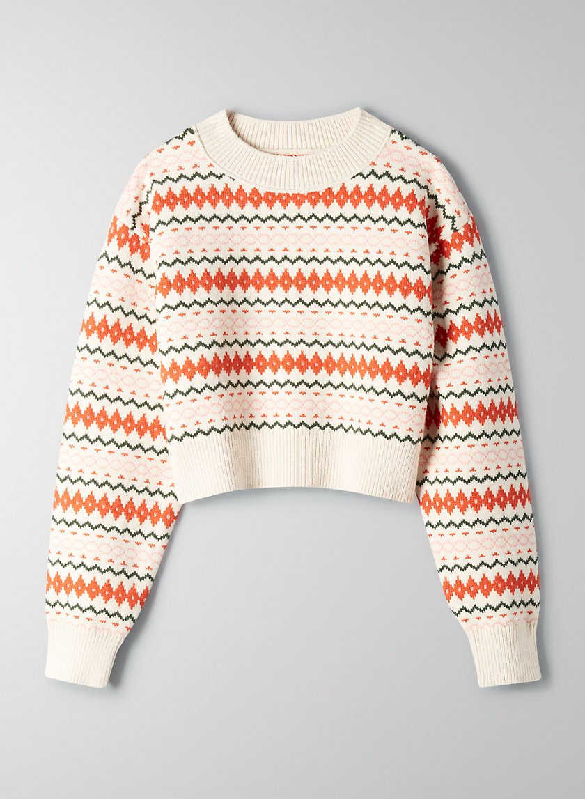 LAMORA SWEATER - Fair Isle crew-neck sweater