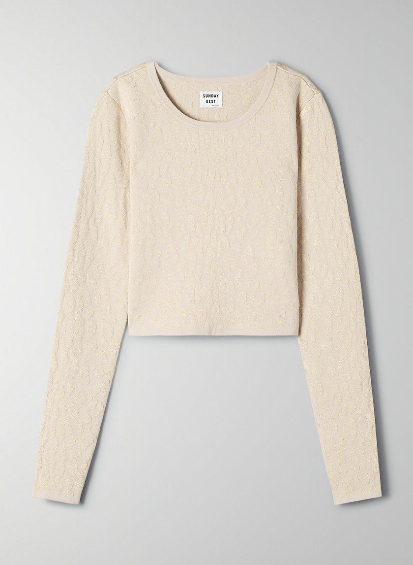 VOLPE SWEATER - Metallic leopard sweater
