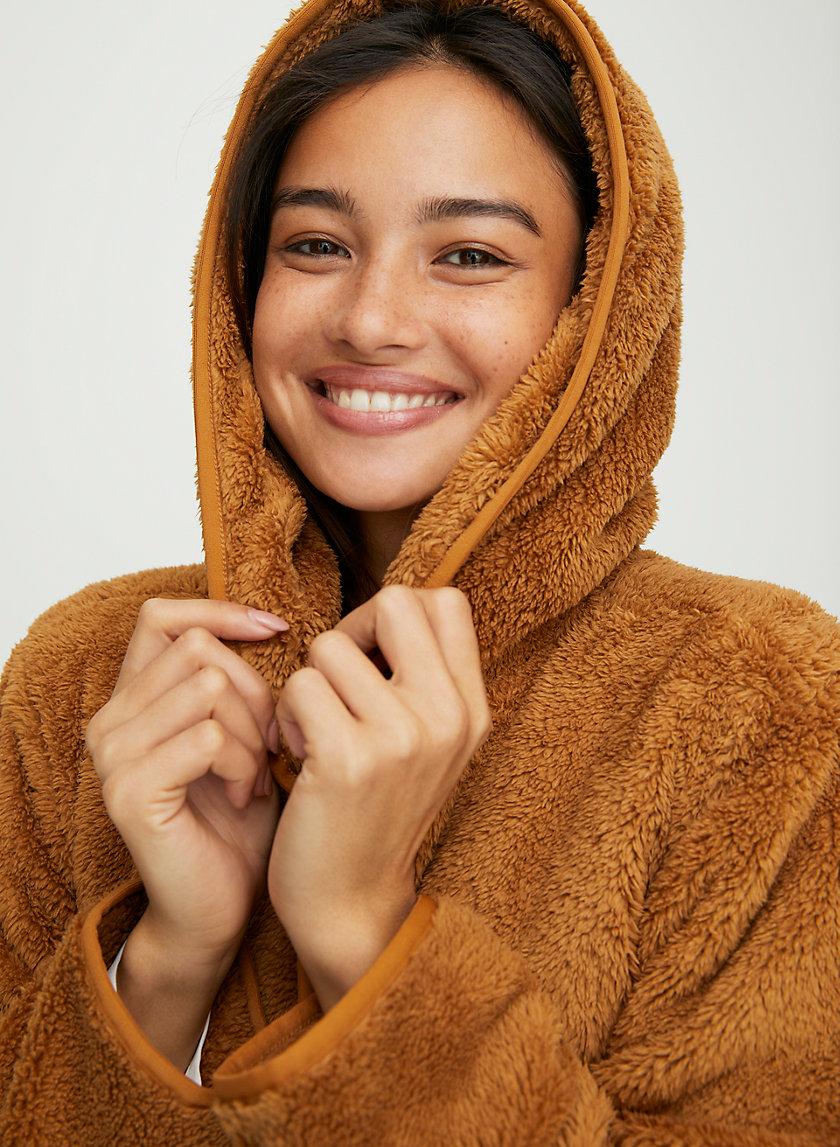 ALISYA JACKET - Fuzzy teddy cardigan