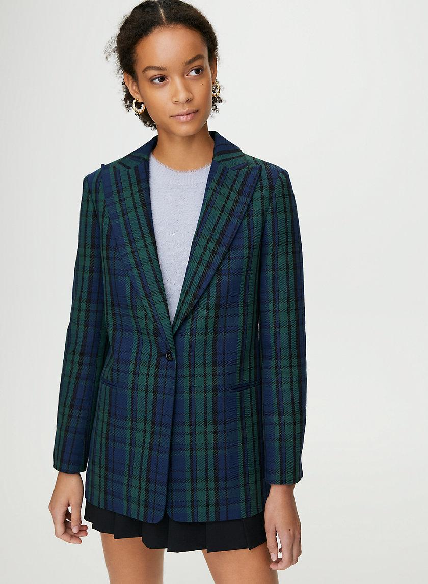 TATUM CHECK BLAZER - Knit blazer