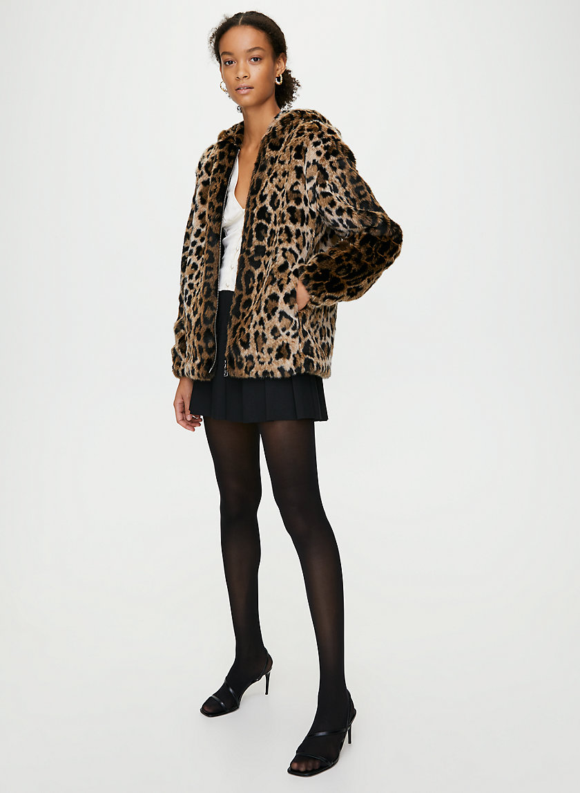 JINX FAUX FUR COAT - Hooded faux fur coat