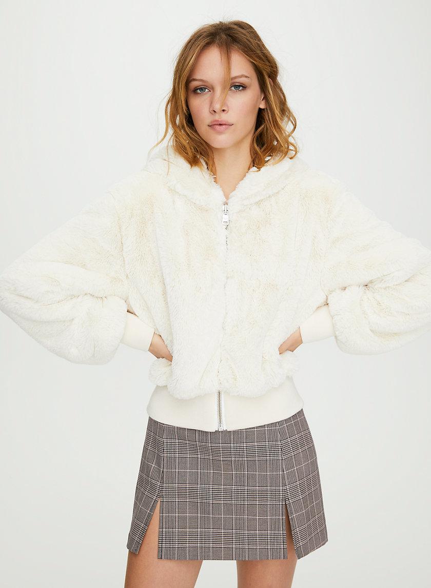 HONEY RYDER FLUFFY COAT - Cropped faux fur coat