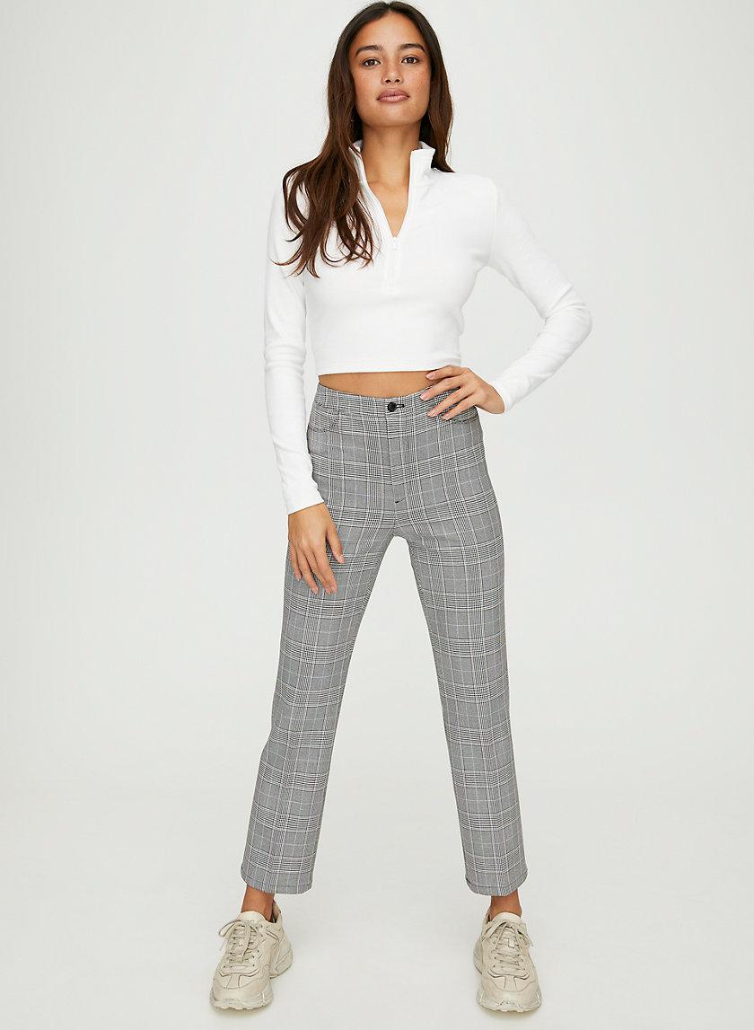 FRESHMAN CHECK PANT - Slim-leg check trouser