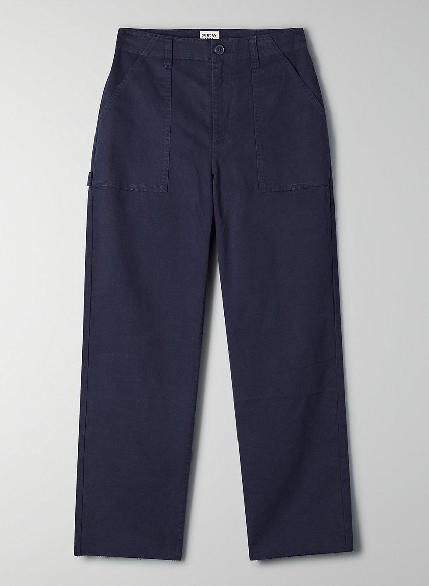 GENEVIEVE PANT - Raw-hem cargo pants